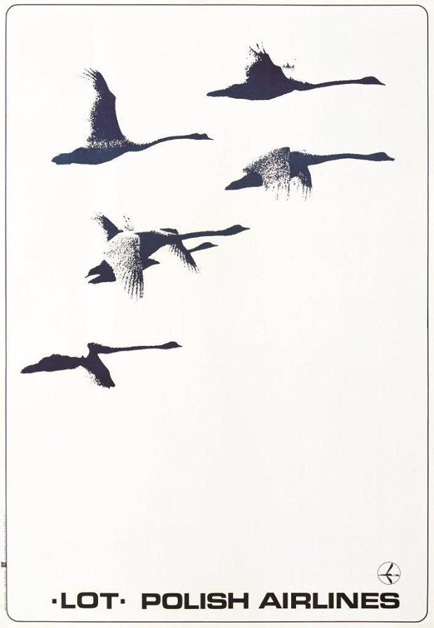 Plakat promocyjny LOT-u; Zbigniew Malicki; 1976 r.