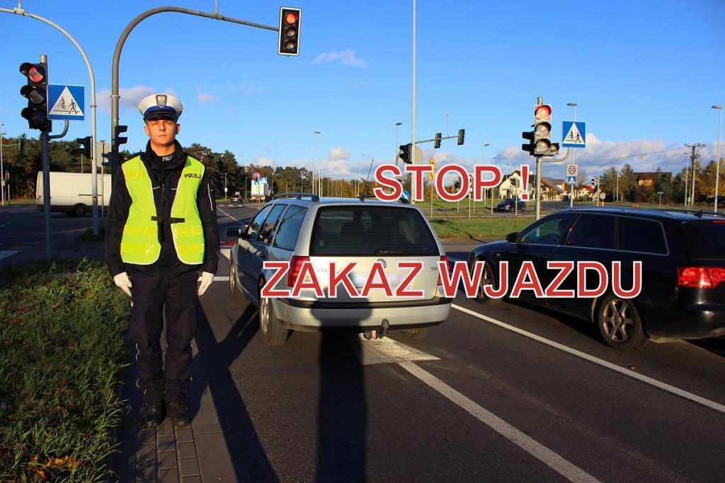 Wszystkich Świętych 2019. Jak zachować się na drodze, gdy ruchem kieruje policjant?