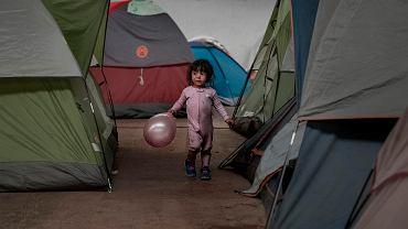 Obozowisko migrantów w meksykańskiej Tijuanie, 2 stycznia 2019 r.