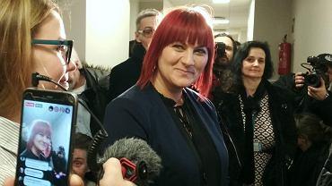 17 stycznia 2019 r. Justyna Socha w poznańskim sądzie przed wyrokiem w sprawie z oskarżenia Pawła Grzesiowskiego