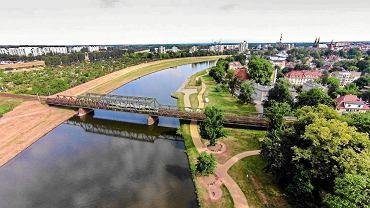 Trasa średnicowa ma przecinać Park Nadodrzański i biec wzdłuż mostu kolejowego