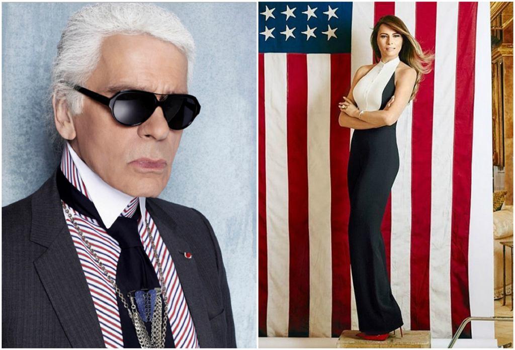 Karl Lagerfeld i Melania Trump