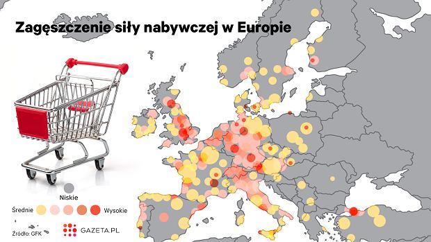 Zagęszczenie siły nabywczej w Europie