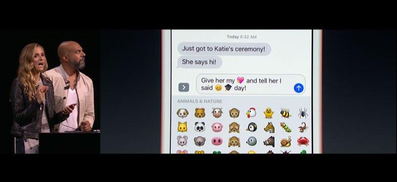 Apple Messages - więcej emotikonów