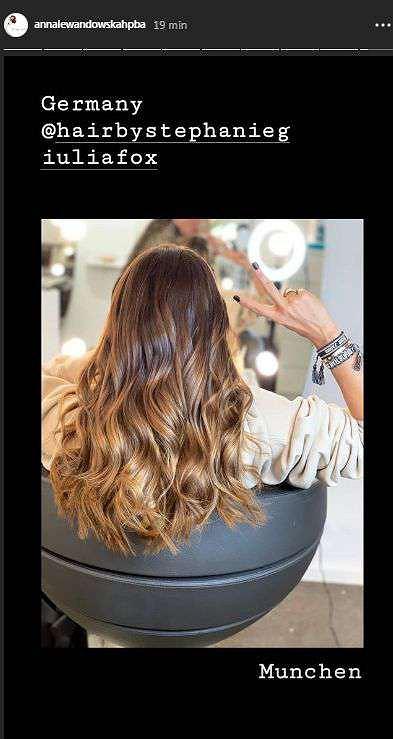 Anna Lewandowska rozjaśniła włosy
