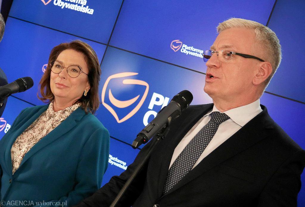 Małgorzata Kidawa-Błońska i Jacek Jaśkowiak. Warszawa, 22 listopada 2019