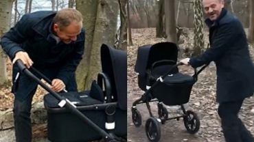 Donald Tusk na spacerze z wnuczką