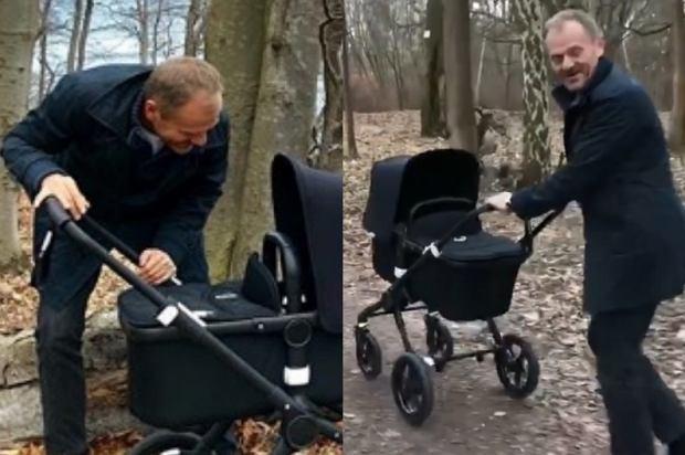 Donald Tusk zabrał wnuczkę na spacer. Przewodniczący Rady Europejskiej pokazał na Instagramie urocze zdjęcie i nagranie. Tak wygląda szczęśliwy dziadek.