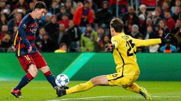 Leo Messi i Wojciech Szczęsny