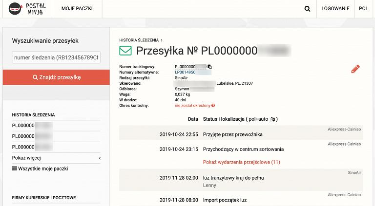 Postal Ninja, wyciek danych klientów AliExpress