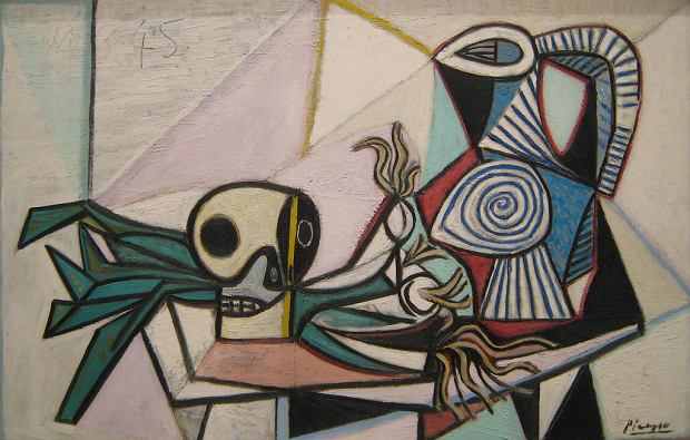 Pablo Picasso, Still Life with Skull, Leeks and Pitcher, 1945