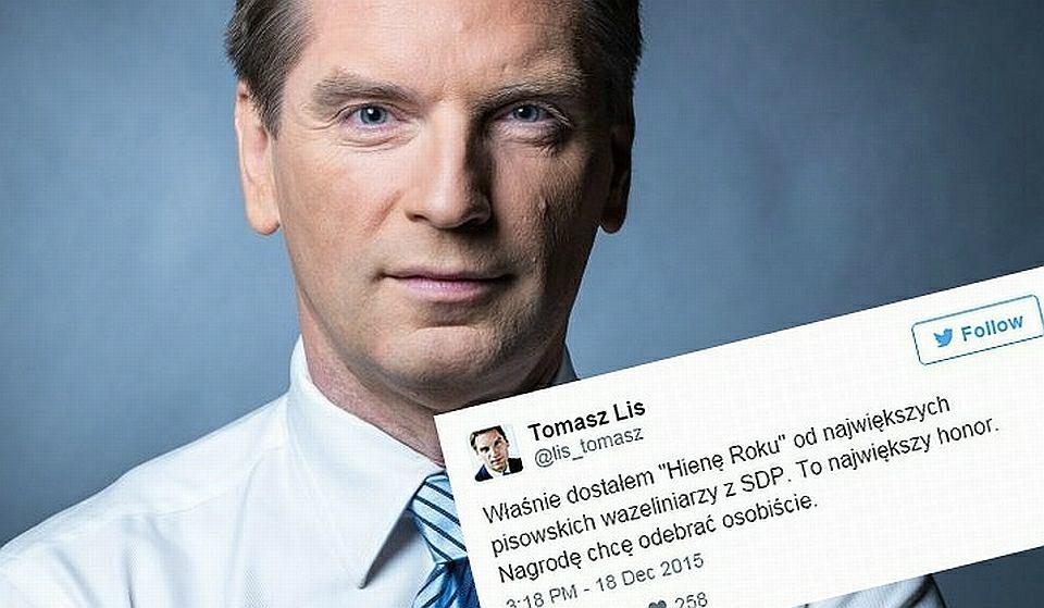 Tomasz Lis otrzymał