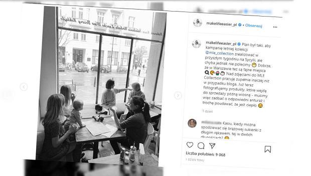 """Kasia Tusk zabrała córkę na sesję. """"Najmilsza asystentka"""". Zdjęcia rozczulają"""