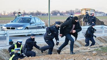 Działacze Agrounii próbowali spotkać się i porozmawiać z premierem Mateuszem Morawieckim
