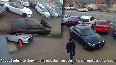 Kradzież BMW M4 w Londynie (Kanada)