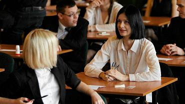 Ostatnie chwile przed maturą z języka polskiego w I Liceum Ogólnokształcącym w Toruniu