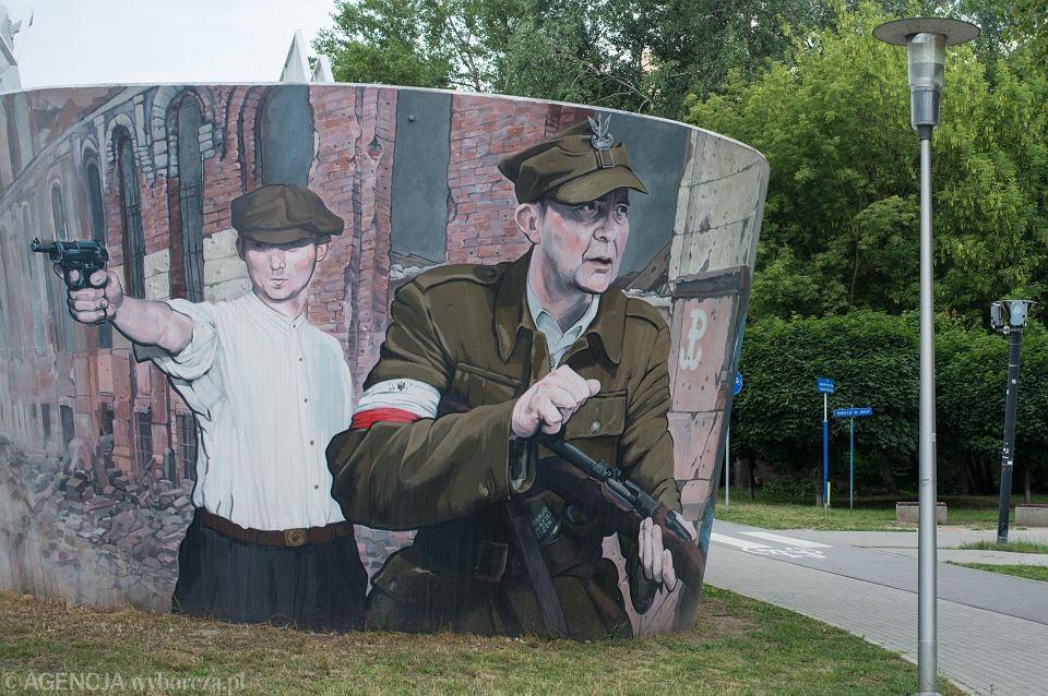 Mural na Osiedlu Ruda w Warszawie