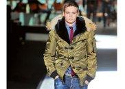 Modne kurtki: parki, kurtki, moda męska, Parka z pokazu DSquared2