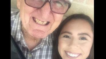 18-letnia Melanie z 82-letnim dziadkiem - również studentem