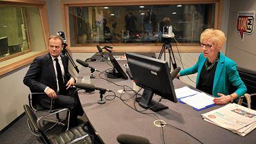 Donald Tusk i Janina Paradowska