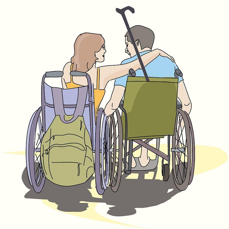 Seks osób z niepełnosprawnościami