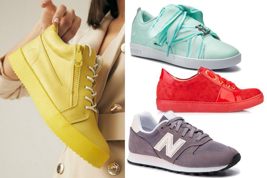 Kolorowe sneakersy na wiosnę i lato