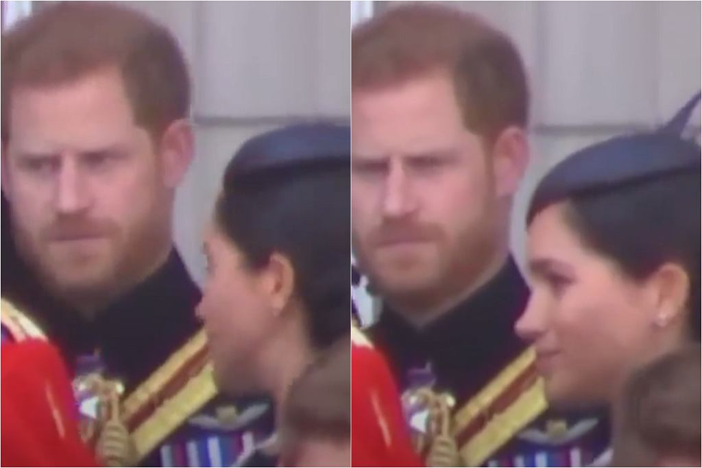 Meghan i Harry podczas ceremonii Trooping the Colour