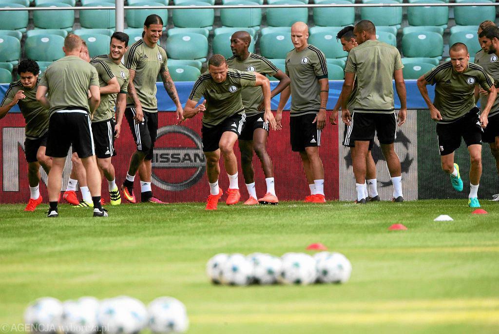 Trening Legii przed meczem z Borussią Dortmund w Lidze Mistrzów