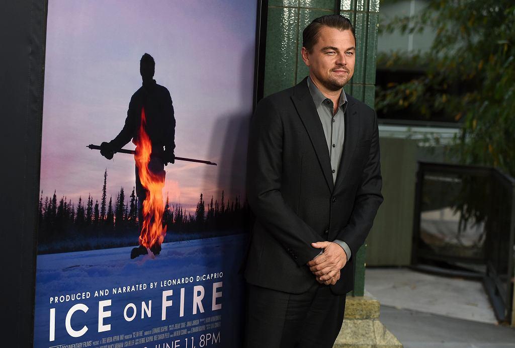 Leonardo DiCaprio na premierze dokumentu 'Lód w ogniu'