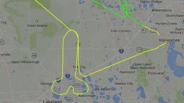 Trasa lotu pilota-żartownisia