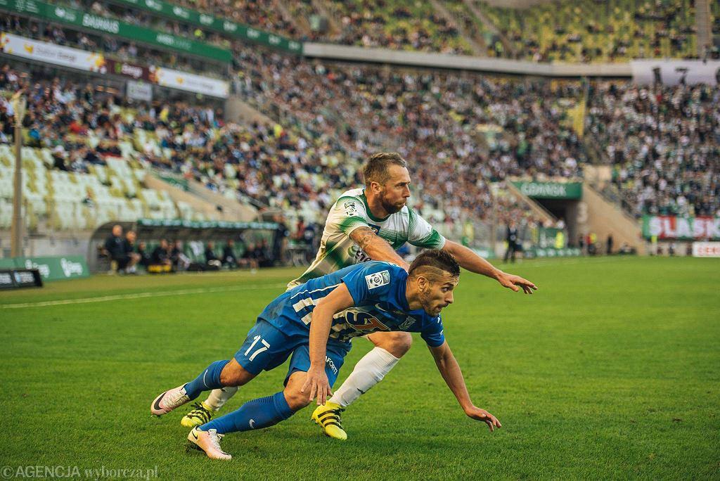 Lechia Gdańsk - Lech Poznań 2:1. Maciej Makuszewski, Jakub Wawrzyniak
