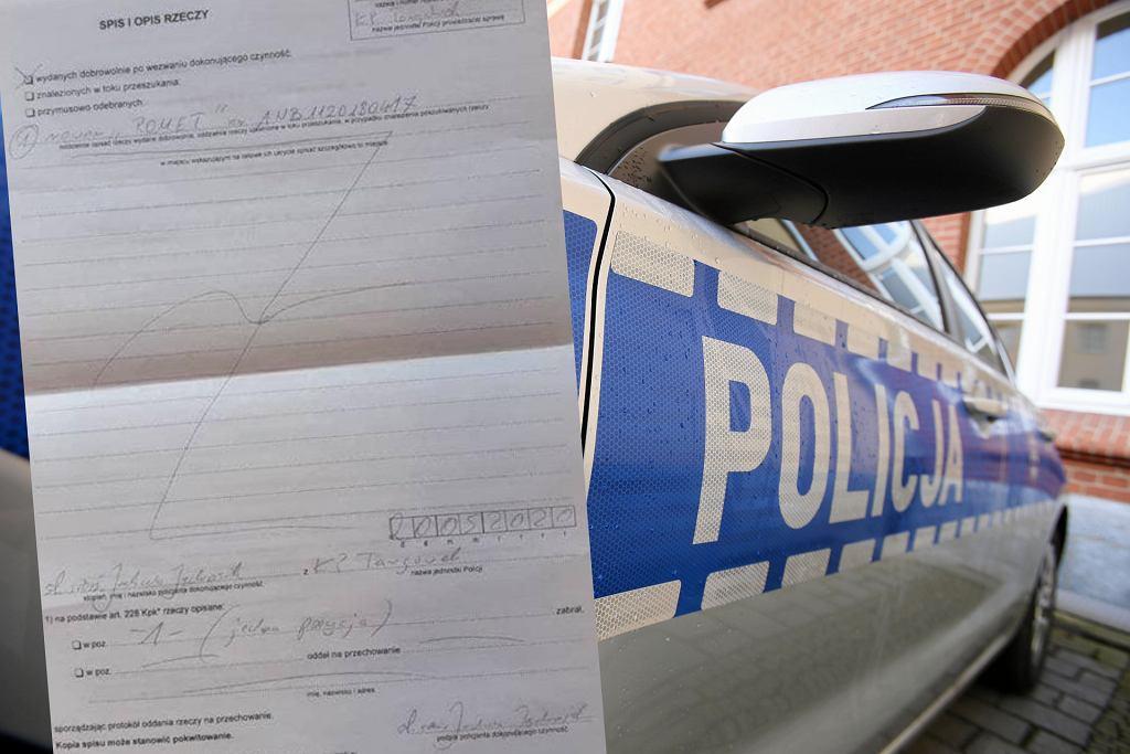 Policjant zarekwirował dziecięcy rowerek