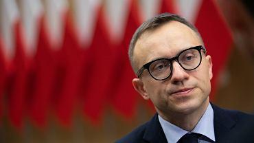 Wiceminister aktywów państwowych Artur Soboń podczas konferencji ''Możliwości rozwoju jednostek samorządu terytorialnego''. Lublin, 5 marca 2020