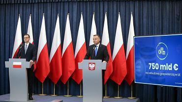 750 miliardów euro na odbudowę gospodarczą Europy. Prezydent i premier zajęli stanowisko