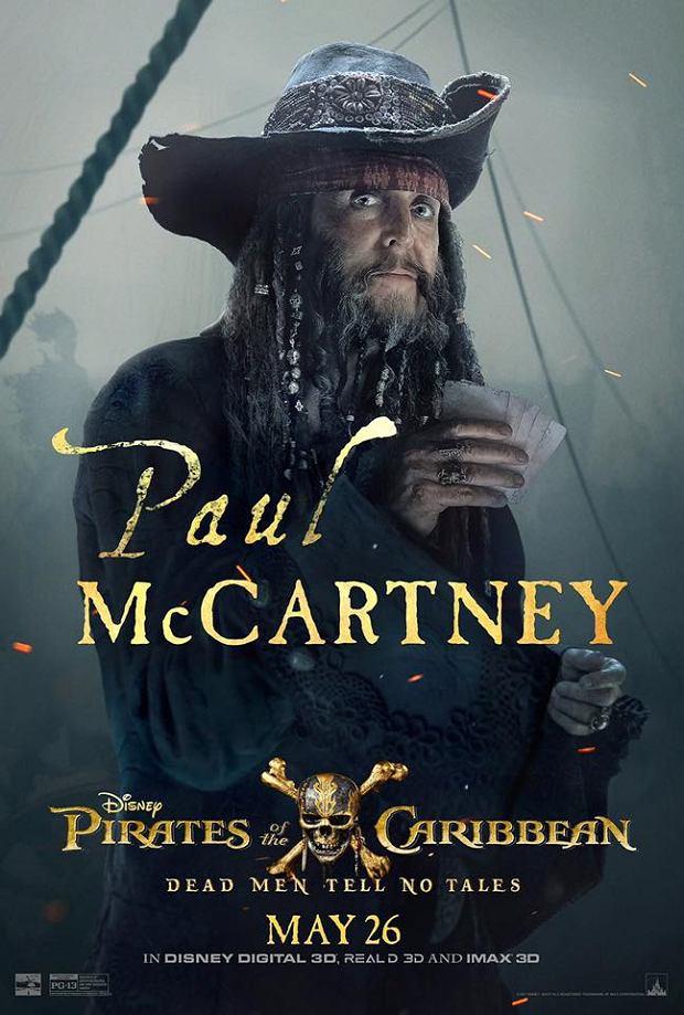 Paul McCartney - plakat filmu 'Piraci z Karaibów: Zemsta Salazara'