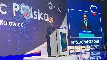 Mateusz Morawiecki na konwencji PiS w Katowicach