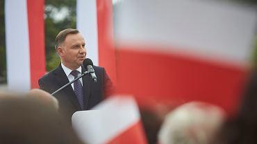 Prezydent Andrzej Duda agituje w Wieluniu, 10 czerwca 2020