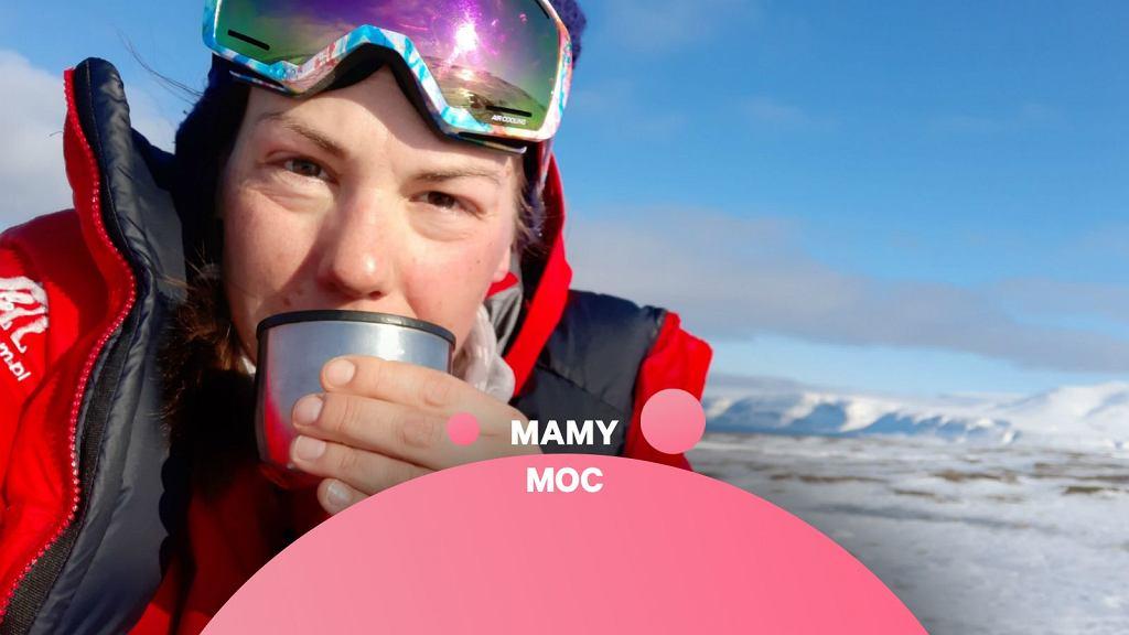 Joanna Mostowska podczas jednej z wypraw w głąb Arktyki