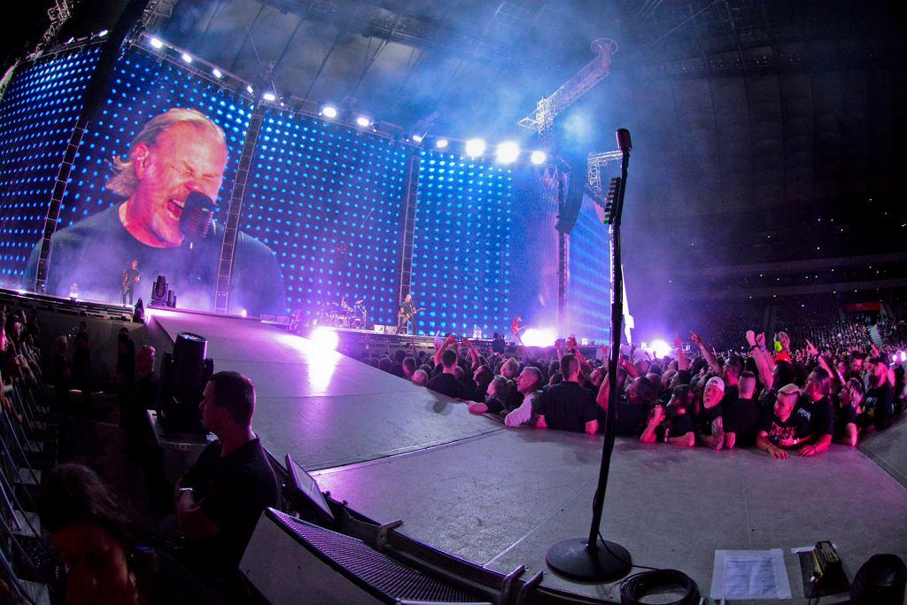 21.08.2019, koncert Metalliki na Stadionie Narodowym w Warszawie.