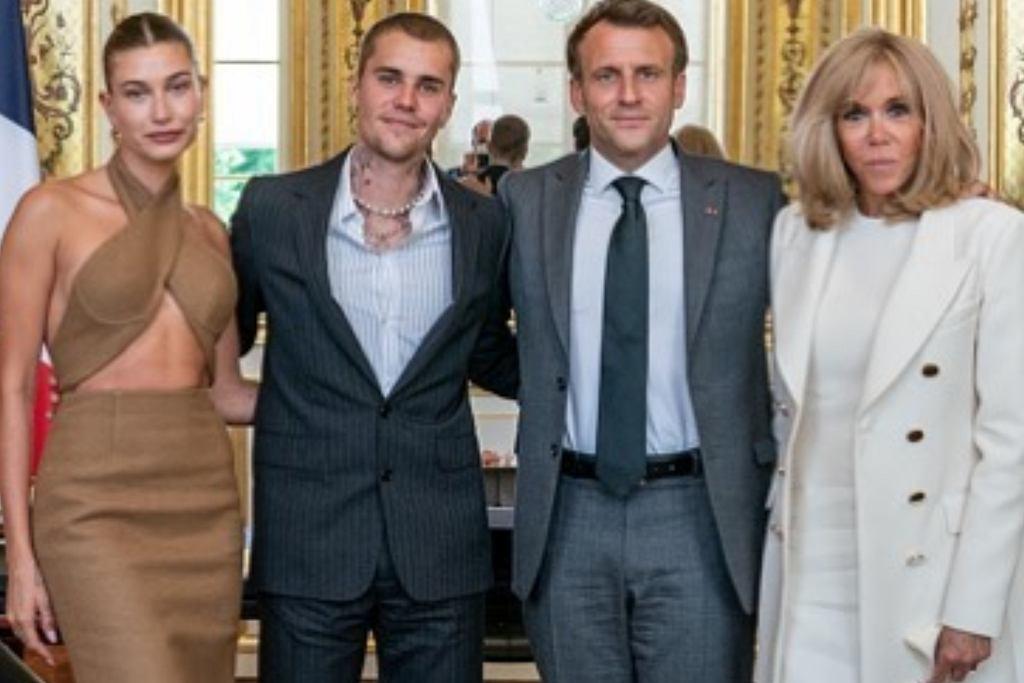 Justin Bieber, Hailey Bieber, Emmanuel Macron, Brigitte Macron
