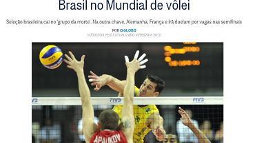 """Screen z serwisu dziennika """"O Globo"""""""