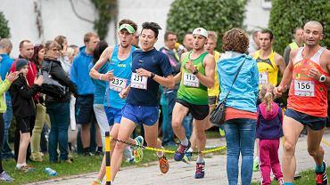 Olsztynianie podczas biegu na 5 kilometrów w parku im. Janusza Kusocińskiego