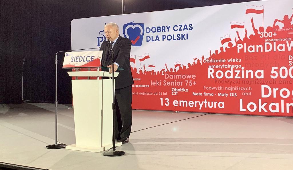 Jarosław Kaczyński w Siedlcach