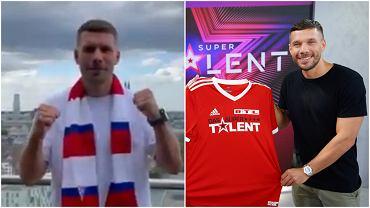 Lukas Podolski będzie łączył grę w ekstraklasie z niemieckim 'Mam talent'