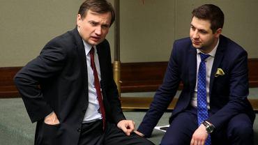 Zbigniew Ziobro i Patryk Jaki w Sejmie