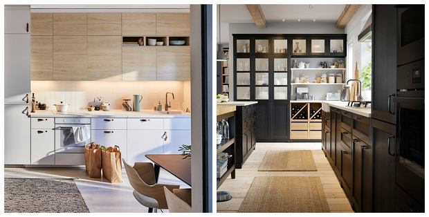 Aranżacje kuchenne IKEA - meble ASKERSUND i LERHYTTAN