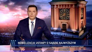 'Wiadomości' TVP o SN