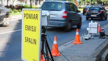 Pomiar emisji spalin w Krakowie w 2019 roku