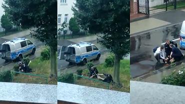 Interwencja policji w Lubinie.