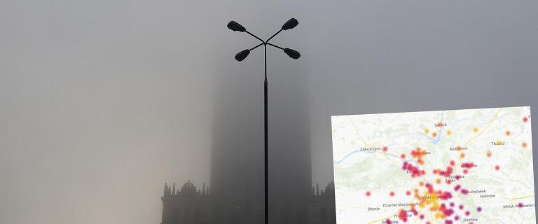 Smog w Warszawie. W grudniu tak źle jeszcze nie było. Czuć specyficzny swąd